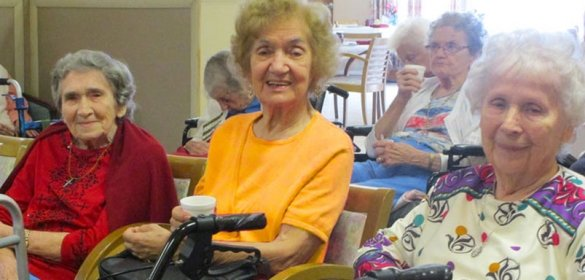 Group of residents of St. Joseph's Senior House