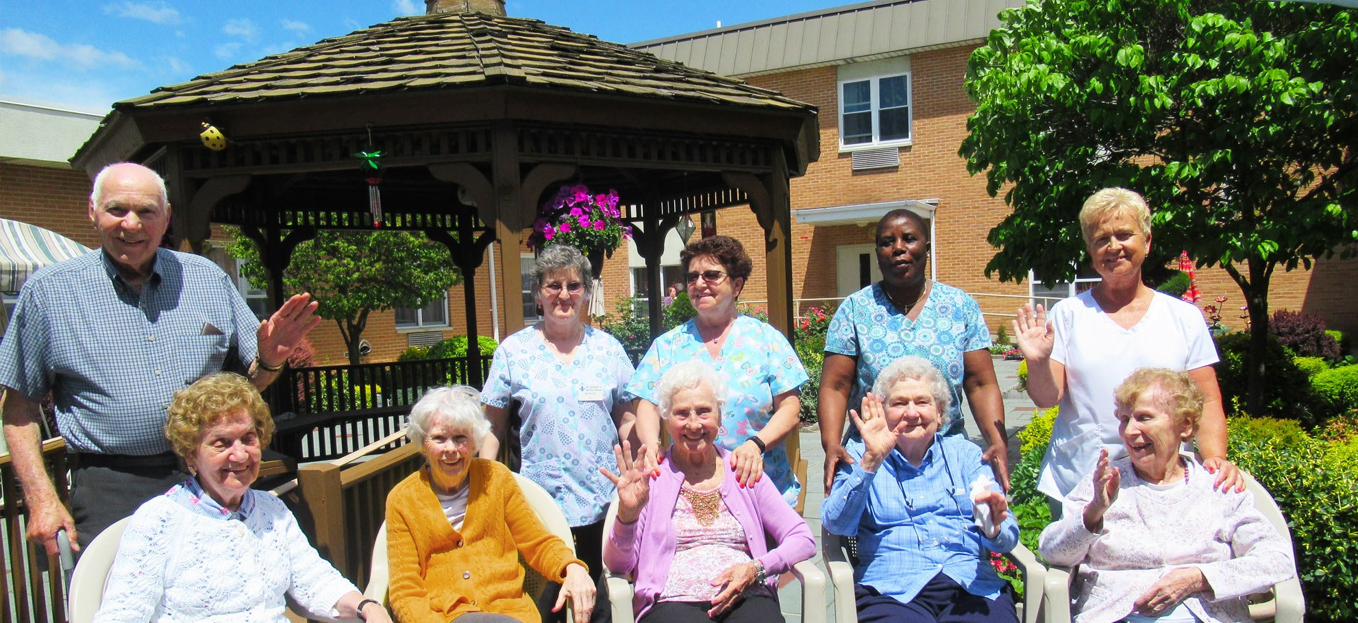 Residents of the St. Joseph's Senior House