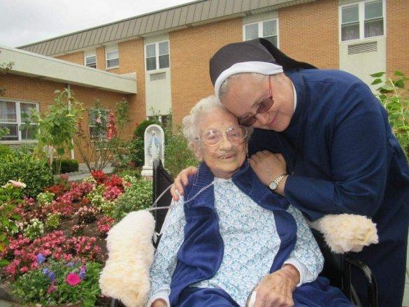 Josephine Montenigro with Sister Zdzislawa