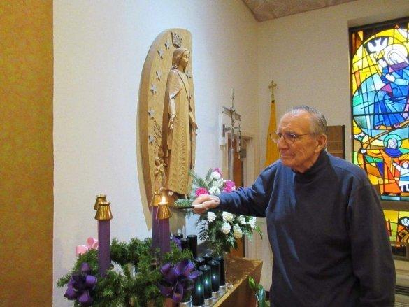 Edward at St. Joe's chapel